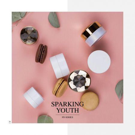 丸型 ECO PET 化粧品 & スキンケア パッケージ - Sparkling Youth シリーズ - 化粧品パッケージ コレクション - スパークリング ユース