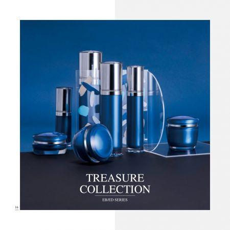 redondo Forma Acrílico Lujo Cosmético y Cuidado de la Piel      Envase Serie Treasure Collection