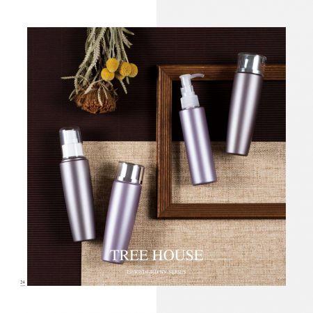 ラウンドシェイプECOPETコスメティック&スキンケアパッケージ-ツリーハウスシリーズ - 環境にやさしい化粧品パッケージコレクション-ツリーハウス
