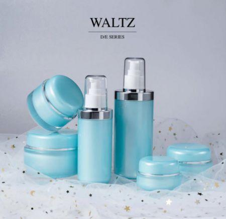 redondo Forma Acrílico Lujo Cosmético y Cuidado de la Piel Envase - Serie de vals - Cosmético Acrílico de Lujo Envase Colección - Waltz