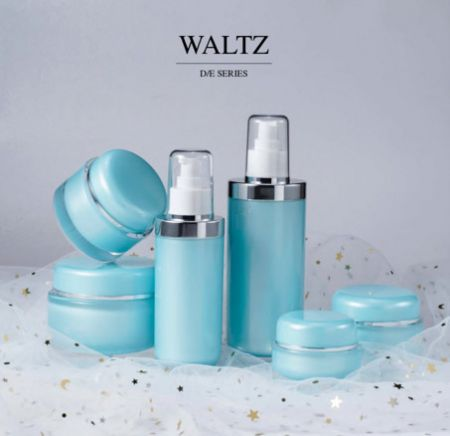 Round Shape Acrylic Luxury Cosmetic & Skincare Packaging - Luxury Acrylic Cosmetic Packaging Collection - Waltz