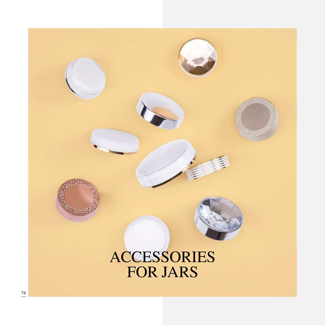 Cosmetic Packaging Accessories - Cosmetic Packaging Collection - Variety of Caps