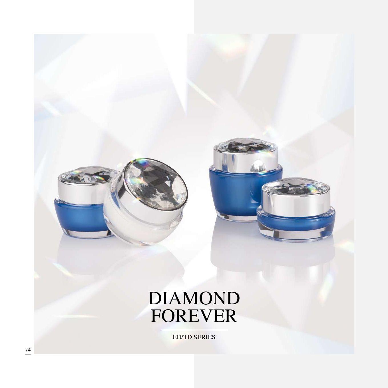 redondo / cuadrado Forma Acrílico Lujo Cosmético y Cuidado de la Piel Envase - Serie Diamond Forever - Cosmético Envase Colección - Diamond Forever