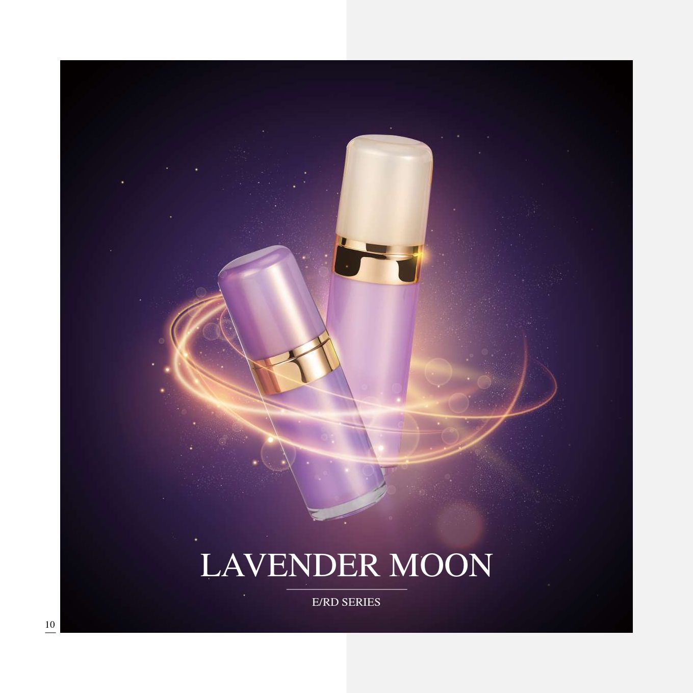 Round Shape Acrylic Luxury Cosmetic & Skincare Packaging - Cosmetic Packaging Collection - Lavender Moon