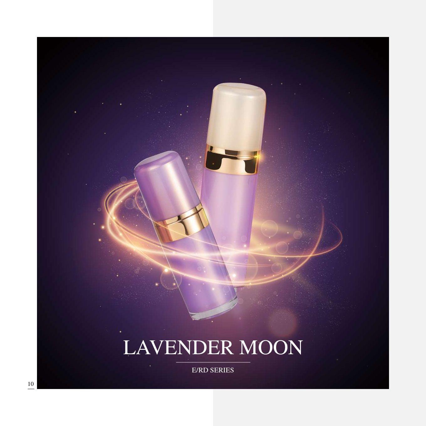 redondo Forma Acrílico Lujo Cosmético y Cuidado de la Piel Envase - Serie Lavanda Luna - Cosmético Envase Colección - Lavender Moon