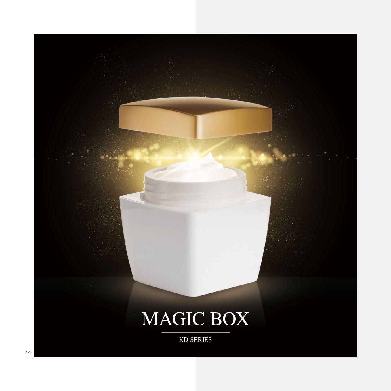 عبوات مستحضرات التجميل والعناية بالبشرة مربعة الشكل من الأكريليك - سلسلة ماجيك بوكس - مجموعة تغليف مستحضرات التجميل الأكريليك الفاخرة - الصندوق السحري