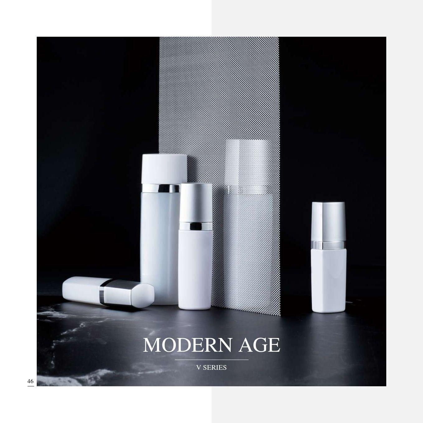 cuadrado ECO PET Cosmética y cuidado de la piel Envase - Serie Edad Moderna - Cosmético Envase Colección - Modern Age