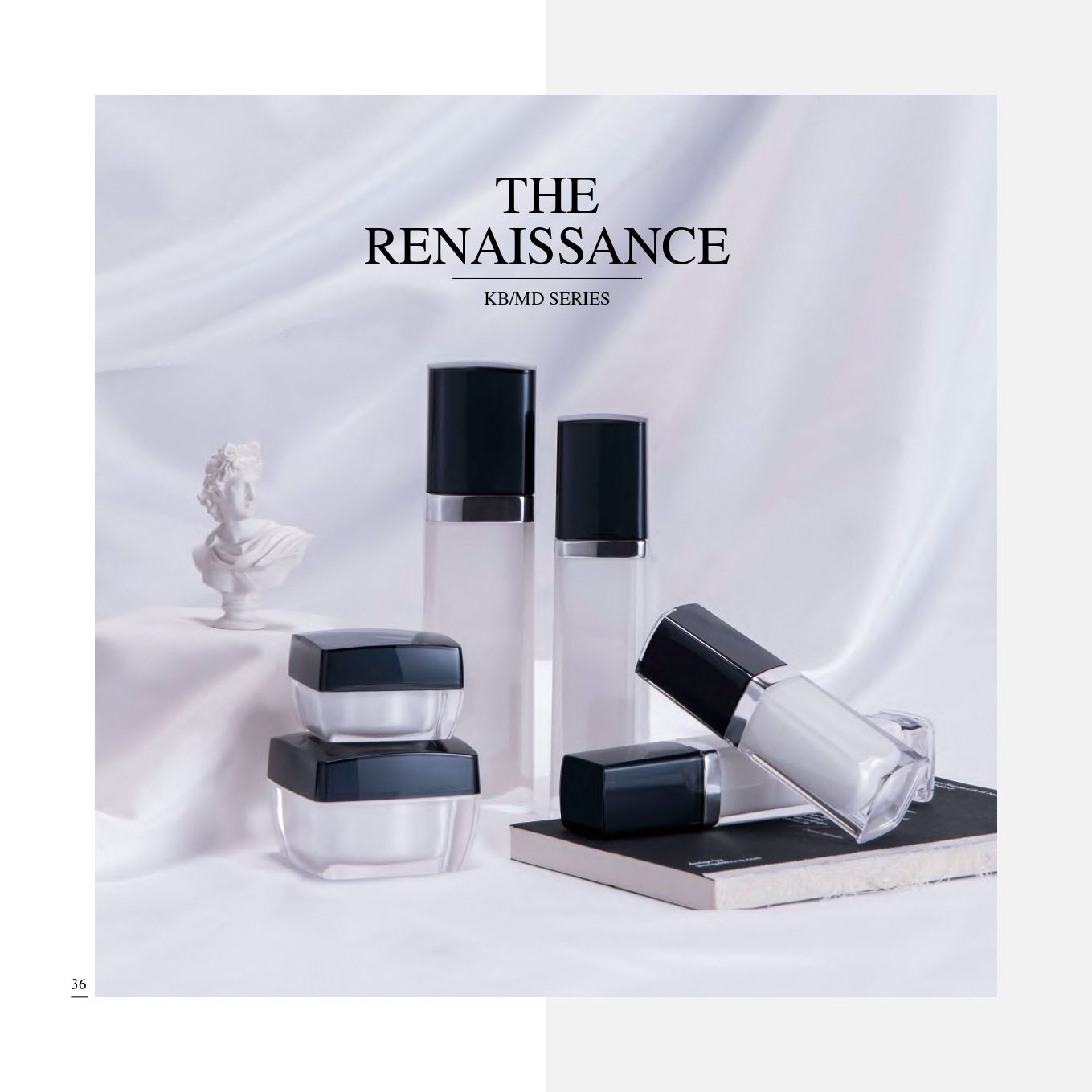 Square Shape Acrylic Luxury Cosmetic & Skincare Packaging - The Renaissance serie - Cosmetic Packaging Collection - The Renaissance