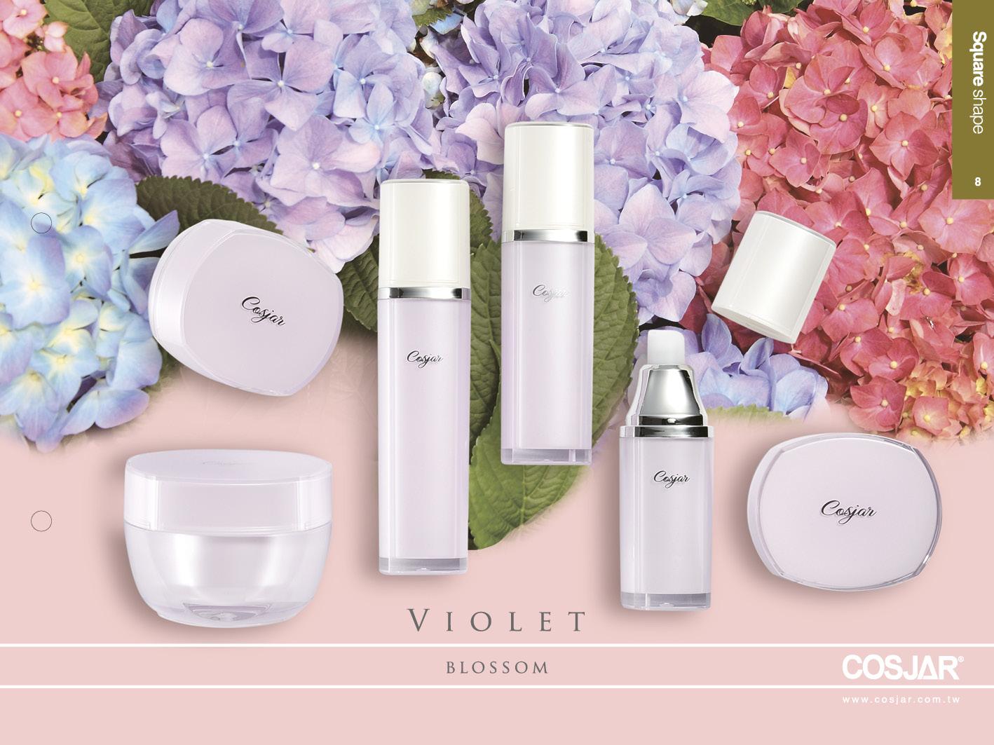 紫羅蘭系列 - Cosmetic Packaging Collection - violet blossom