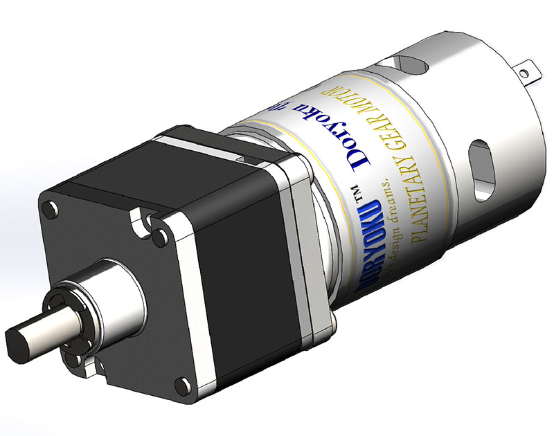 Square 43 Strong Planetary motor - DC brushed motor with gear reduction applicated for electric gate barrier garage door.