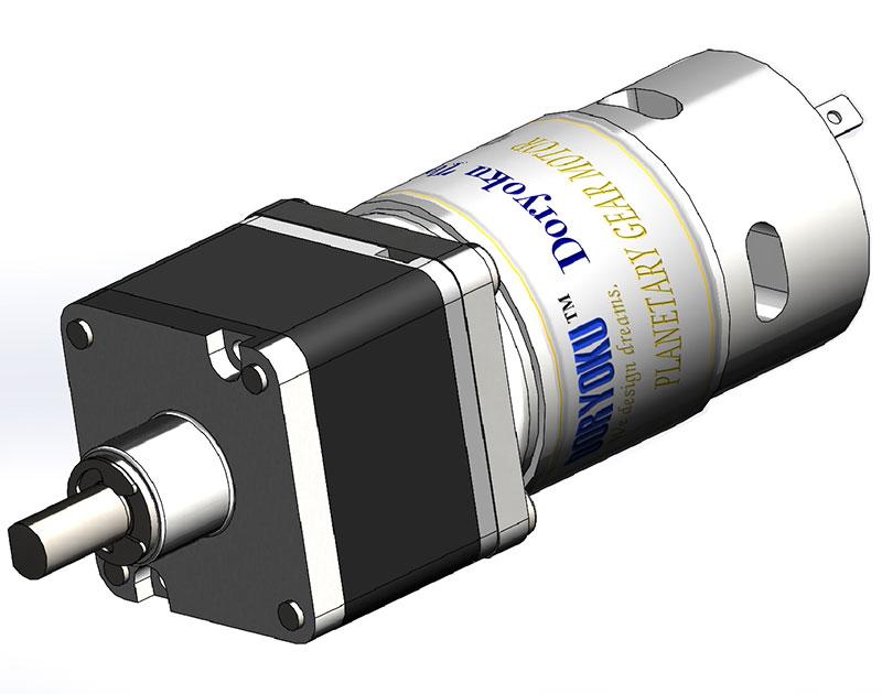 Kvadrat 43 stark planetarisk motor - DC-borstad motor med växelleduktion tillämpad för garageport för elektrisk grindbarriär.