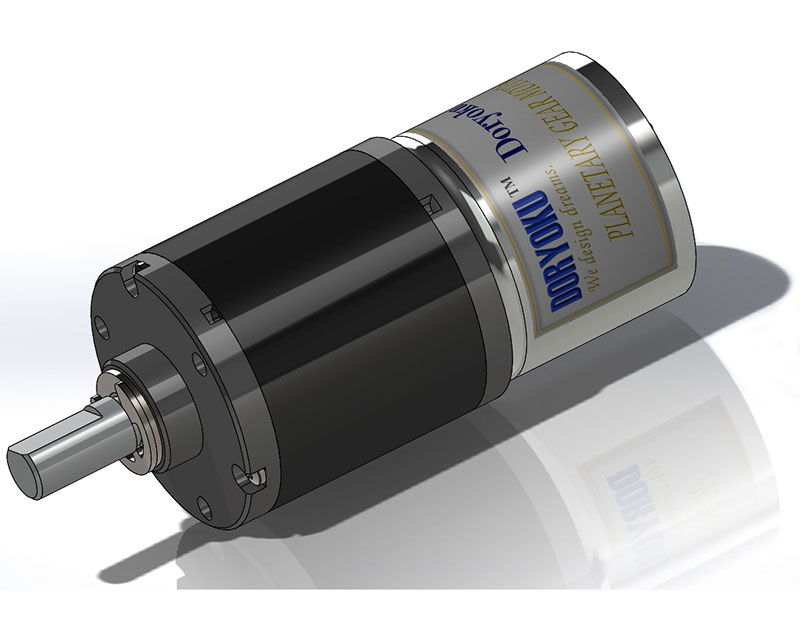DIA37 Quiet Planet motor - DC brushed motor with gear reduction.