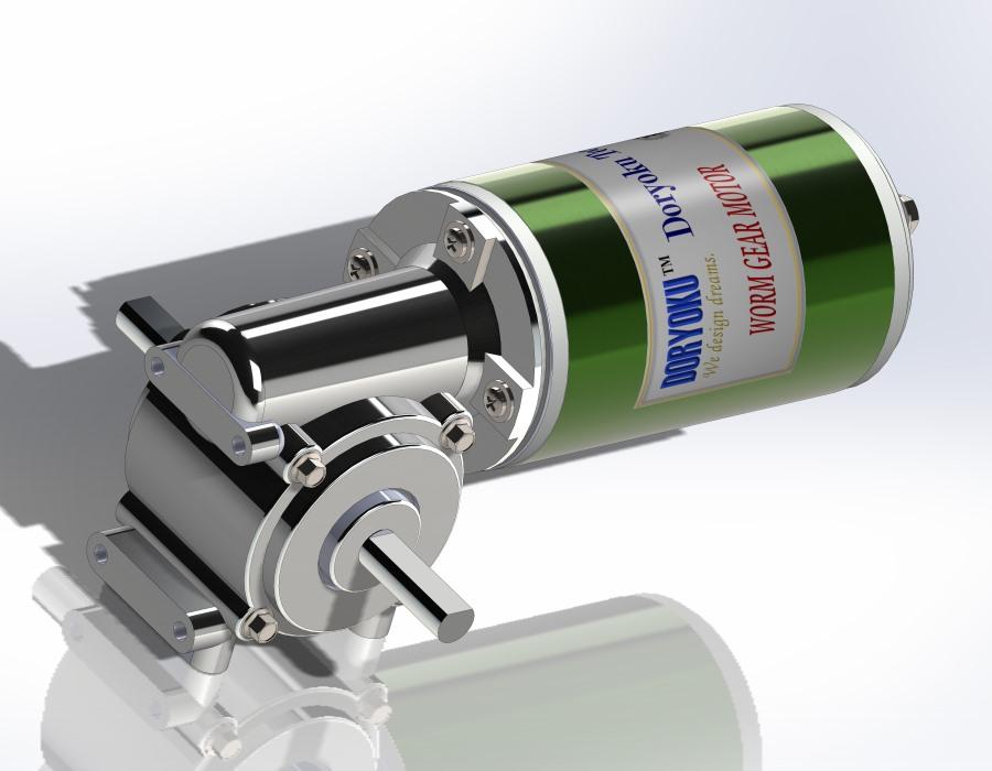 65mm DC Worm Gear Motor - DC Worm Gear Motor WG65