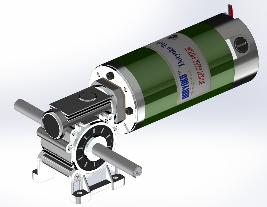 260W Long Vr. Worm Gear Motor - DC Worm Gear Motor, WG80L, Motovario NMRV 030, Flange size option.MESH DATA is available.