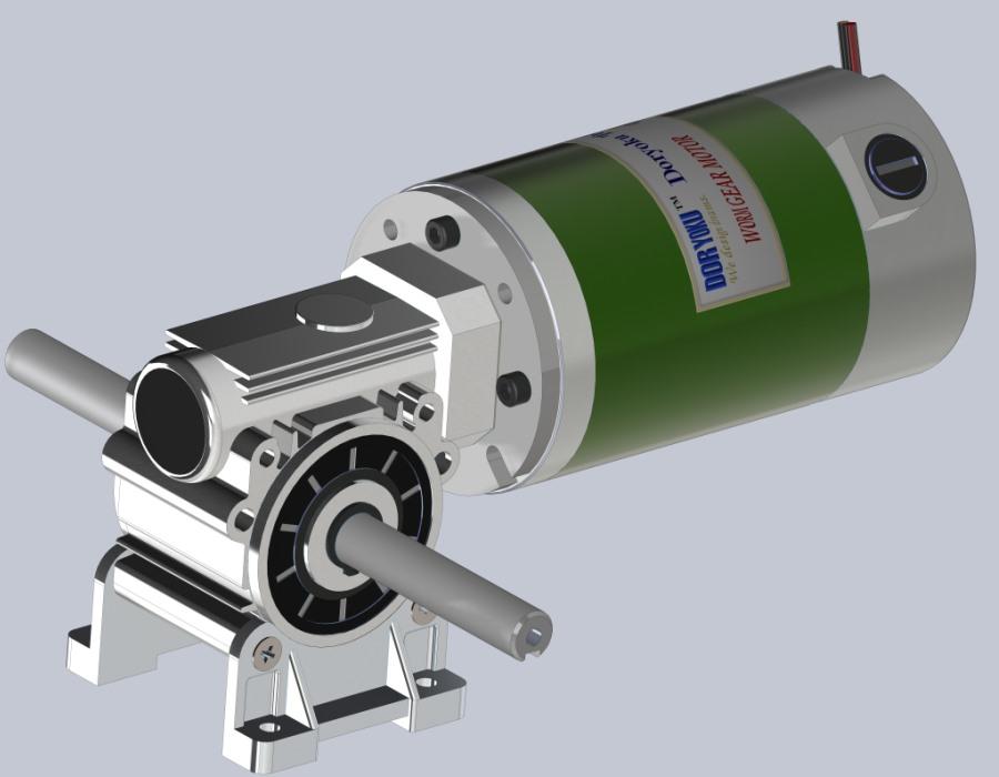 160W Short DC Worm Gear Motor - DC Worm Gear Motor WG80S.NMRV 030 56B14 installed in garden tool, lawn mower. NMRV 040 or 63B14 is option.