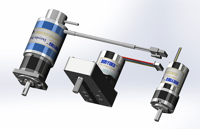DC Brushless Motors and Gear Motors for robot or automatic control.