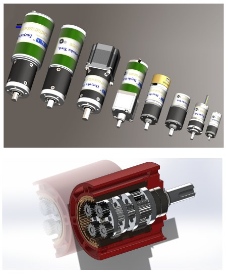 Planetary Gear Reducer Connected with DC Brush, Brushless, Stepping, Servo Motor.