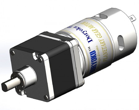 DIA43 Strong Vr. Planetary motor - DC brushed motor with gear reduction applicated for electric gate barrier garage door.