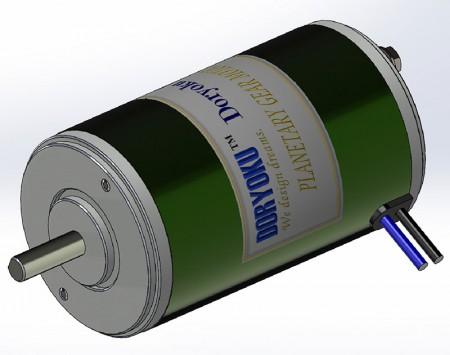 Brushed DIA65 DC Long Life Motor - 60W DC Brushed Motor