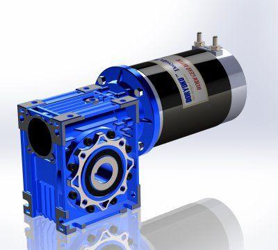 450W DIA110 Corto Vr. - Motoriduttore a vite senza fine CC WG110S.NMRV 050 80B14. Design a 4 poli, alta potenza e lunga durata.