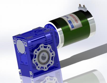 DIA124 Strong DC Worm Gear Motor - DC Worm Gear Motor, WG124, Motovario NMRV 050, Flange size: 63B5,71B14,71B3,80B14,80B5. MESH DATA is available.