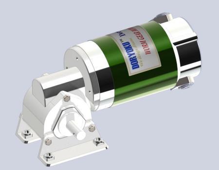 Przekładnia ślimakowa DIA80 z silnikiem stojakowym - Silnik z przekładnią ślimakową DC WG80AN