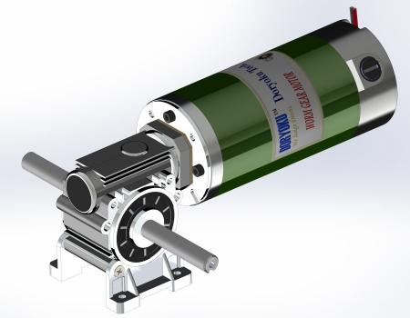 260W Long Vr. Worm Gear Motor - DC Worm Gear Motor, WG80L, NMRV 030, Flange size option.MESH DATA is available.