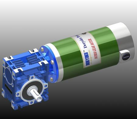 260W DIA80 Motovario - DC Worm Gear Motor WG80L.Motovario NMRV 030 56B14 installed in garden tool, lawn mower. NMRV 040 or 63B14 is option.