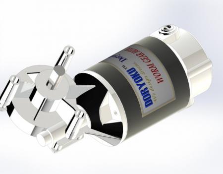 Silnik z przekładnią ślimakową DIA80 DC - Silnik z przekładnią ślimakową DC WG80TL.