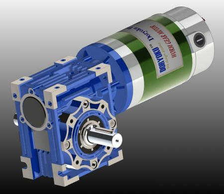 400W  NMRV040 DIA89 - DC Worm Gear Motor WG89.Motovario NMRV 040 56B14 installed in garden tool, lawn mower. NMRV 040 or 63B14 is option.