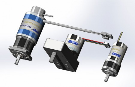 Brushless Gear Motors - DC Brushless Motors and Gear Motors for robot or automatic control.