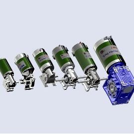 Gleichstromgebürstetes Schneckengetriebe NMRV 030 040 050 063