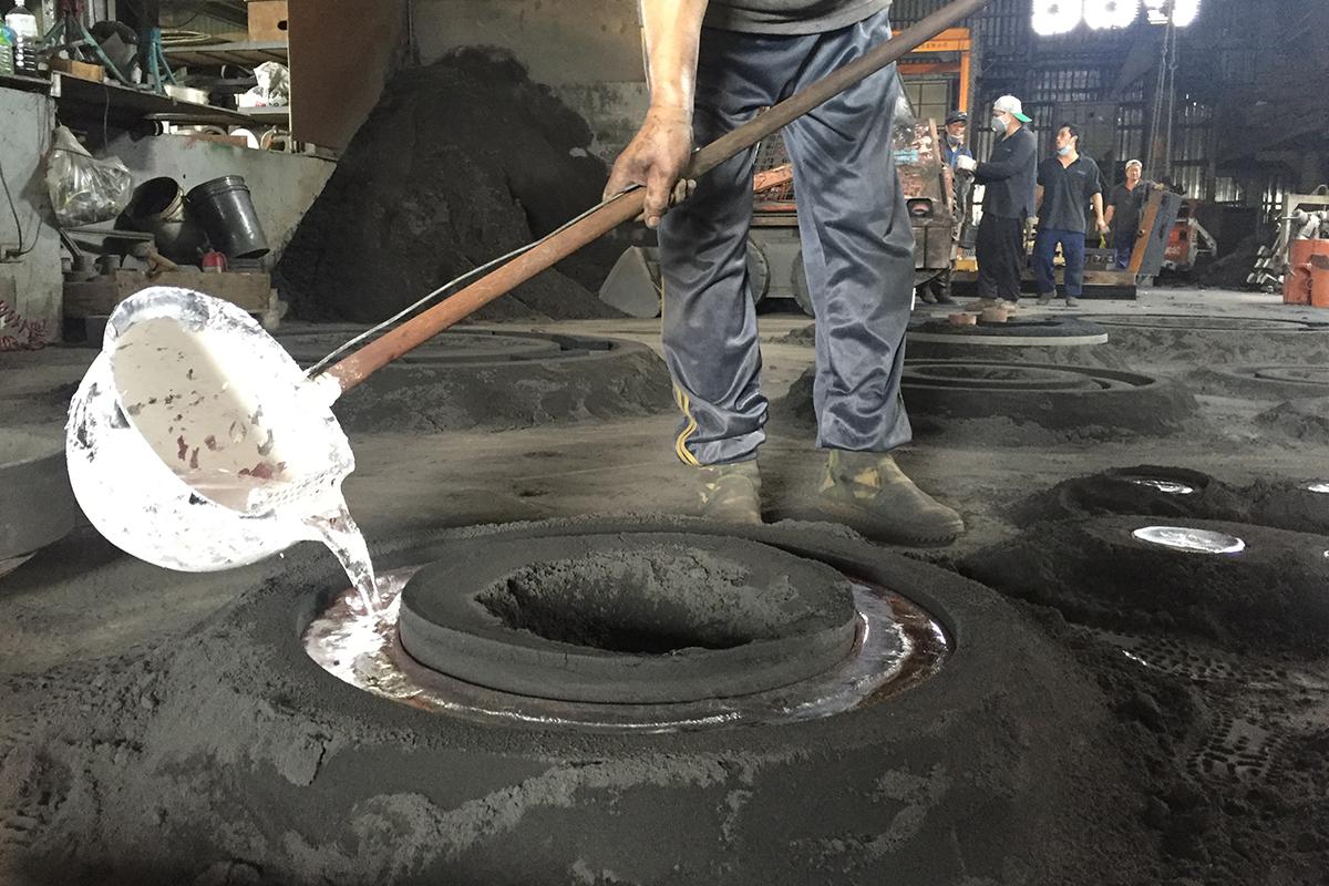 Fonderie professionnelle de moulage au sable en alliage d'aluminium