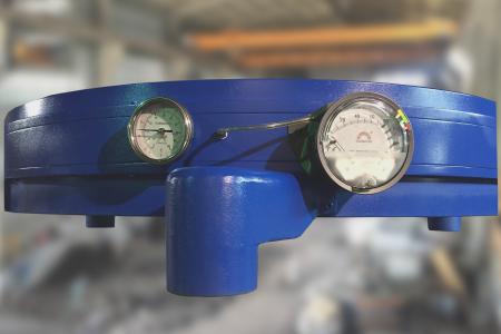 เกจวัดอุณหภูมิและความดันของวงแหวนลม CYG-7L