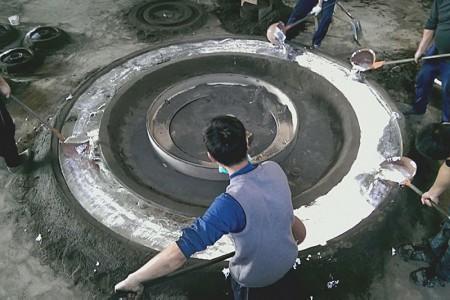 Obří vzduchový prsten může být vyroben speciálně pro tyto účely pozemního filmu.