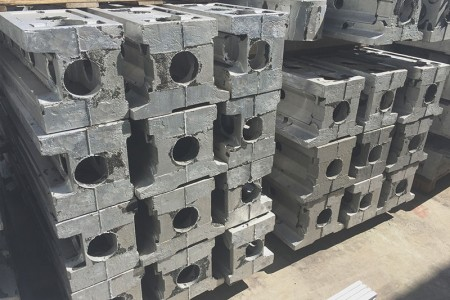 Giant pieces of robot parts - Precision works for robot parts.