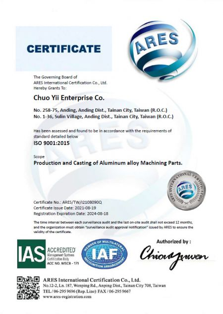 Certifikát ISO 9001: 2015