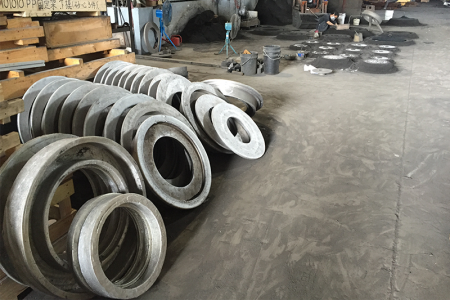 Initial foundry work pieces of air rings