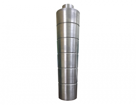 Taper design of Aluminum alloy central column main body effectively conducts the blown up bubble with smooth and stabilization result.  The unstable blown film is therefore to be settled down.
