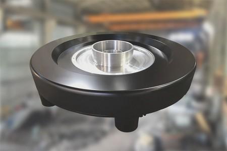 High speed HDPE blown film air ring.