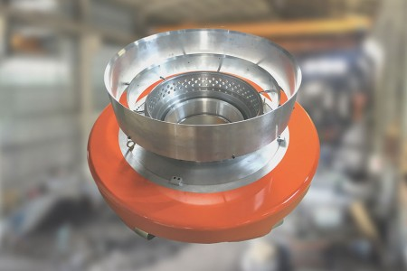 Cone type air ring fully Venturi design.