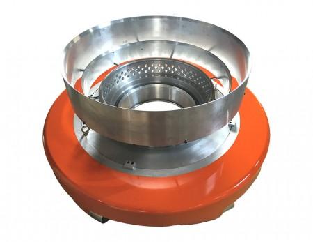LDPE LLDPE Bubble Stabilized Air Ring - Bra Venturi -design, bubbla tätt ansluten med konvägg; stabil och låg variation.