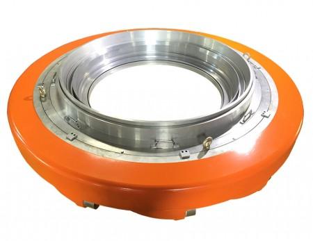 LDPE LLDPE Rychle chladicí vzduchový kroužek se dvěma rty - Pro tlustou fólii balení, nízký variační měrka, vysoký výkon, stabilní, snadné nastavení.