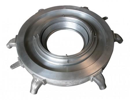 LDPE LLDPE วงแหวนลมริมฝีปากคู่แบบโรตารี่