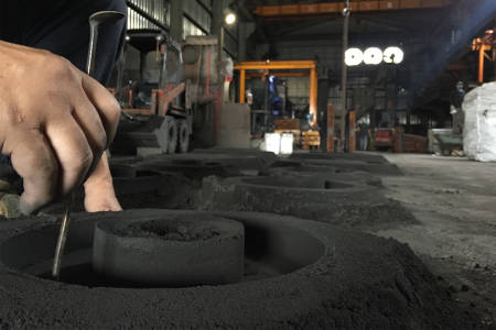 Contrôle dimensionnel du moule de moulage au sable en aluminium
