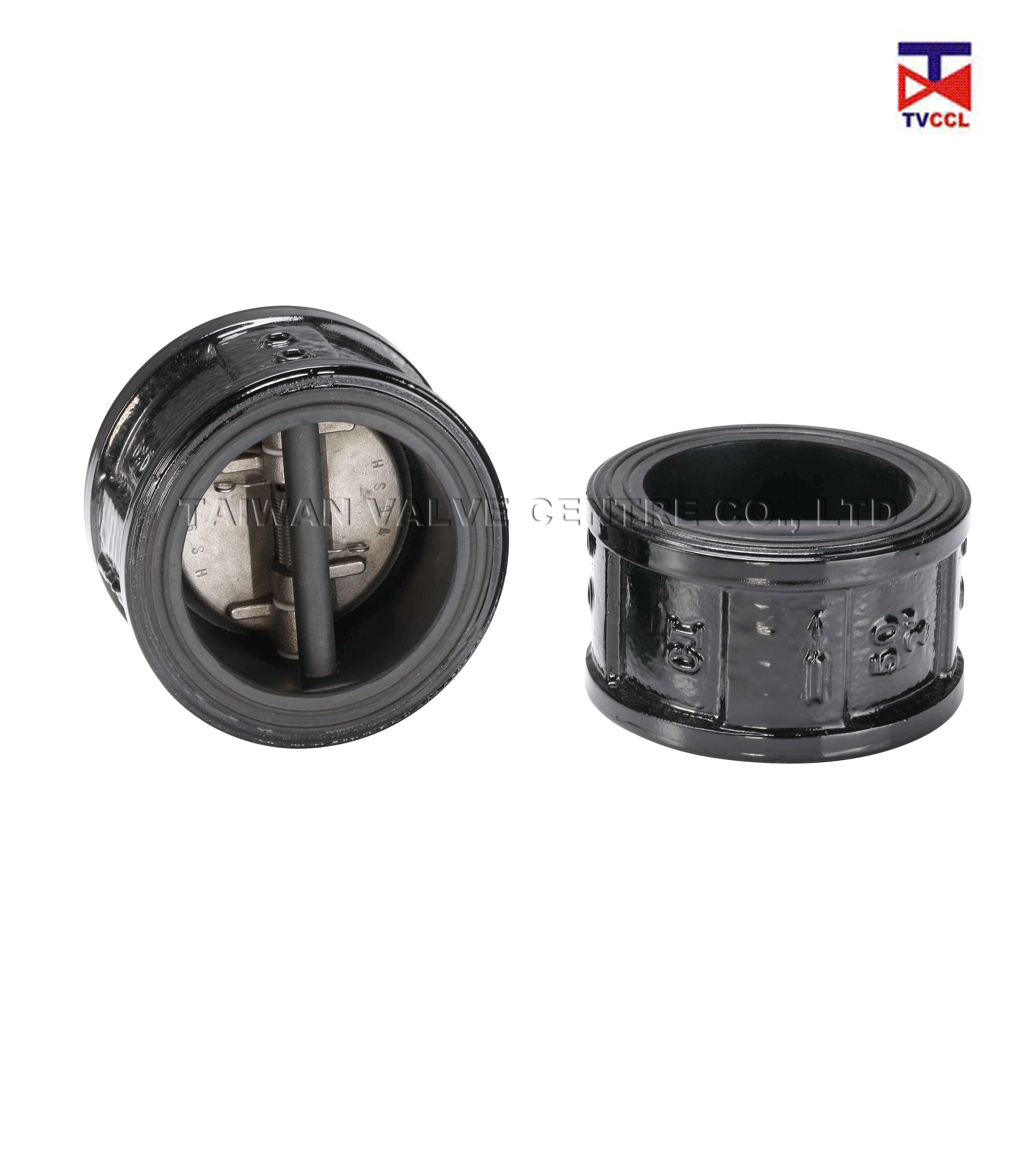 Dual Plate Wafer Type Check Valve with Full Rubber - Rubber Full Lining Butterfly Type Wafer Check Valve
