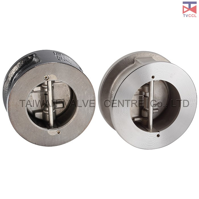 Dual Plate Wafer Type Check Valve With Retainerless - Retainerless wafer check valve No screwed body Retainer meaning, no penetration through the body.
