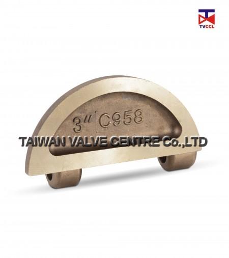 Alu.bronze Lug dual check valve