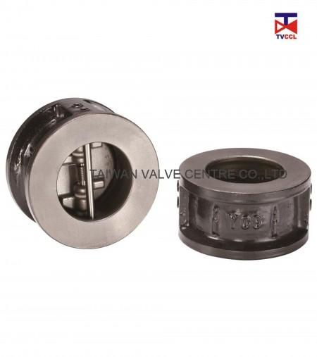 Чугунный обратный клапан с двойной пластиной вафельного типа