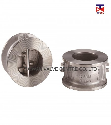 304 Stainless Steel Dual Plate Wafer Type Check Valve - Dual plate check valves widely used for the basic piping, check valves are used with a variety of media: liquids, air, other....